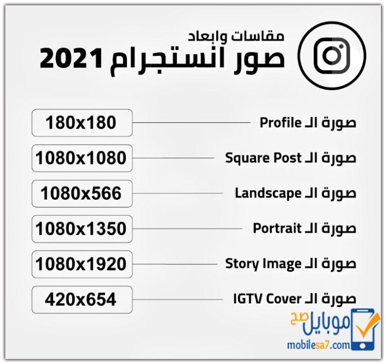 مقاسات الصور في مواقع التواصل الاجتماعي 2021 Social Media موبايل صح